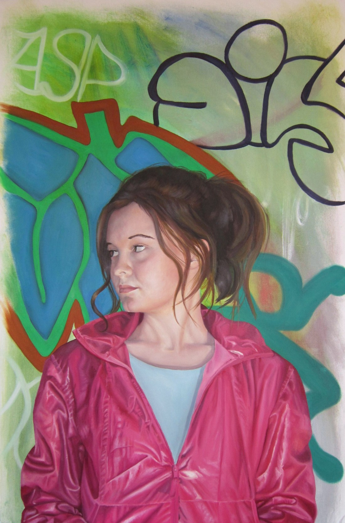 Lisa Harrold - Self portrait (In Pink Jacket)